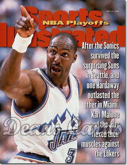 1997 Sports Illustrated - With Label   May 12  -  Karl Malone (Utah Jazz)