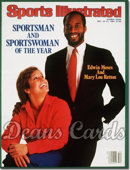 1984 Sports Illustrated - With Label   December 24  -  Mary Lou Retton & Edwin Moses (SOY)