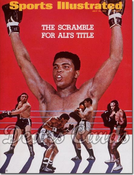 1967 Sports Illustrated - With Label   July 10  -  Muhammad Ali & Challengers