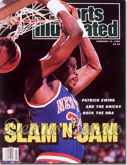 1989 Sports Illustrated - With Label   February 13  -  Patrick Ewing (New York Knicks)
