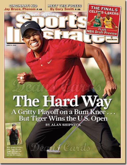 2008 Sports Illustrated - With Label   June 23  -  Tiger Wins US Open