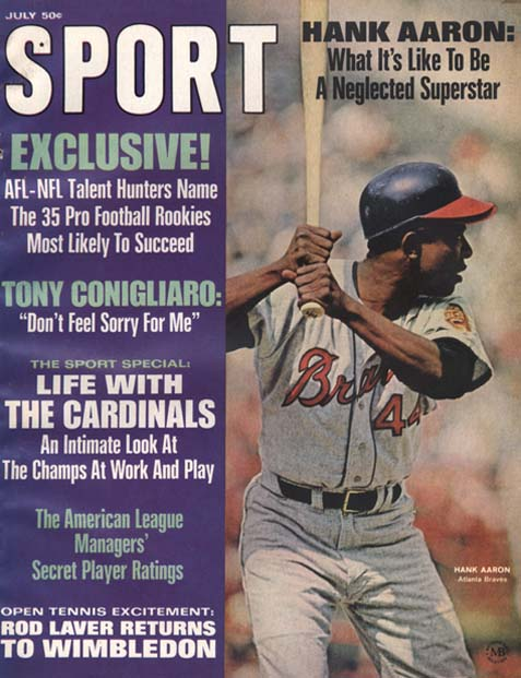 1968 Sport Magazine   -  Hank Aaron  July