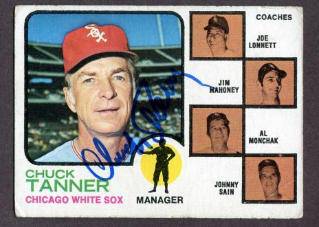 1973 Topps #356   -  Chuck Tanner / Joe Lonnett / Jim Mahoney / Alex Monchak / Johnny Sain White Sox Leaders