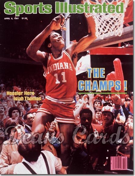 1981 Sports Illustrated - With Label   April 6  -  Isaiah Thomas (Indiana Hoosiers)