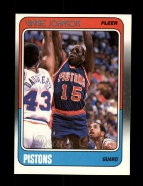 1988 Fleer #41  Vinnie Johnson