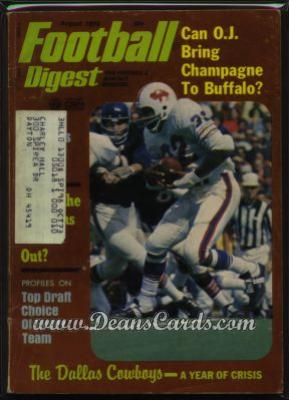 1973 Football Digest    July/August  - O.J. Simpson
