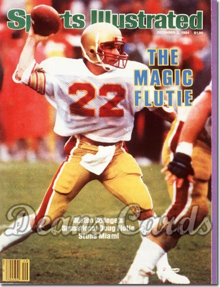 1984 Sports Illustrated - With Label   December 3  -  Doug Flutie (Boston College Golden Eagles)