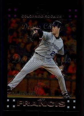 2007 Topps Chrome #99  Jeff Francis