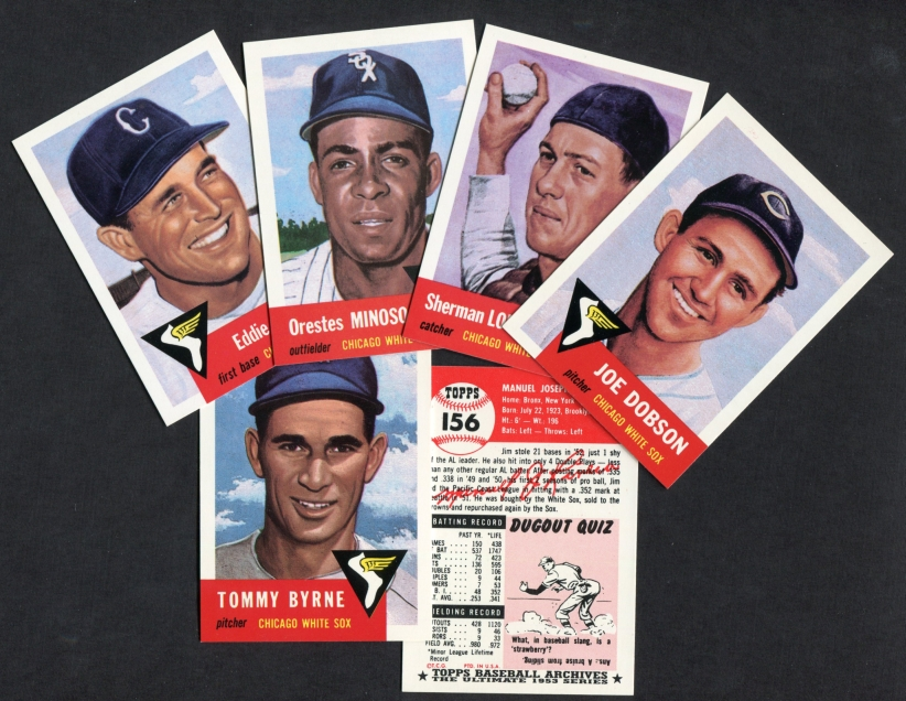 1953 Topps Archives     REPRINT Chicago White Sox Team Set