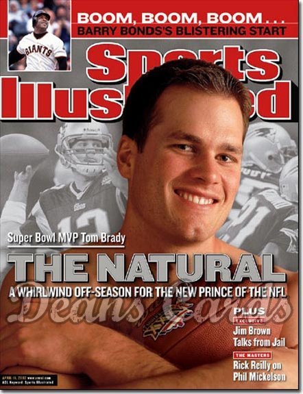 2002 Sports Illustrated   April 15  -  Tom Brady New England Patriots