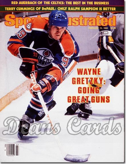 1982 Sports Illustrated - With Label   February 15  -  Wayne Gretzky (Edmonton Oilers)