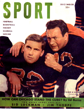 1949 Sport Magazine   -  Johnny Lujack / Sid Luckman  December