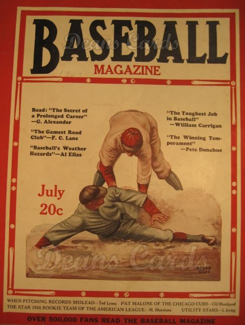 1929 Baseball Magazine    July