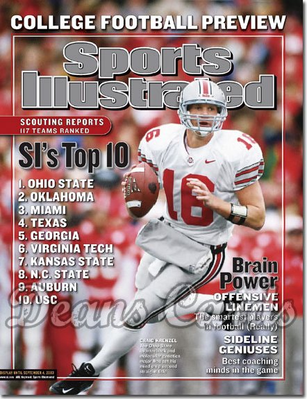 2003 Sports Illustrated   August 11  -  Craig Krenzel Ohio State Buckeyes College Preview