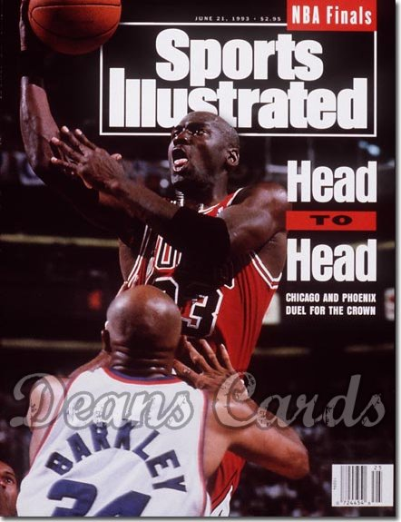 1993 Sports Illustrated - No Label   June 21  -  Michael Jordan (Chicago Bulls) Charles Barkley (Phoenix)