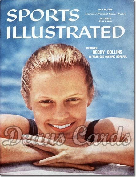 1959 Sports Illustrated - No Label   July 13  -  Betsy Collins (Swimming / Swimmer)