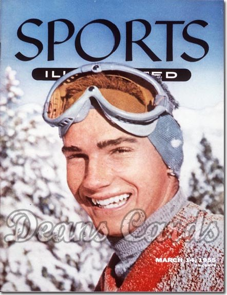 1955 Sports Illustrated - With Label   March 14  -  Buddy Werner (Skiing / Skier)