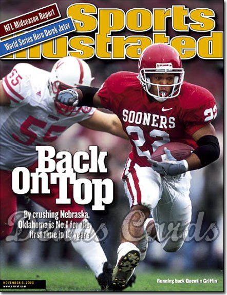 2000 Sports Illustrated   November 6  -  Quentin Griffin (Oklahoma Sooners)