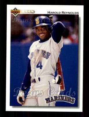 1992 Upper Deck #314  Harold Reynolds