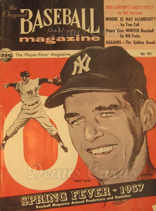 1957 Baseball Magazine    May