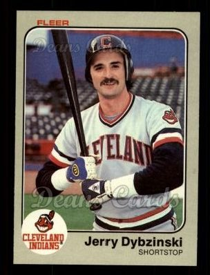 1983 Fleer #406  Jerry Dybzinski