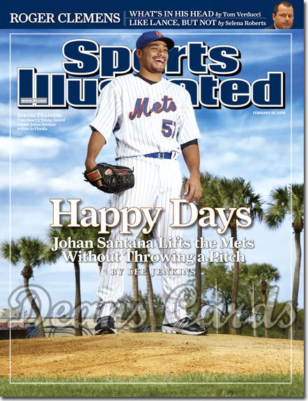2008 Sports Illustrated   February 25  -  Johan Santana