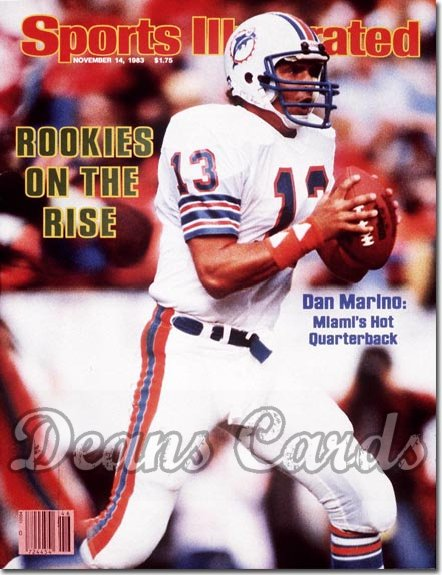 1983 Sports Illustrated - With Label   November 14  -  Dan Marino (Miami Dolphins)