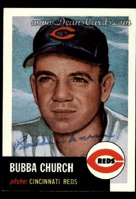 1991 Topps 1953 Archives #47  Bubba Church