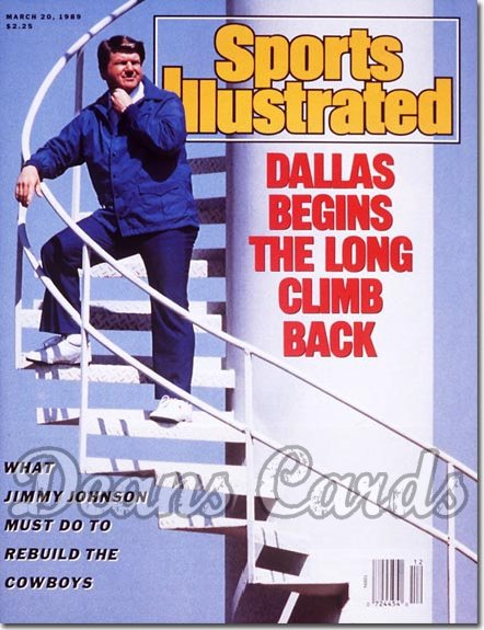 1989 Sports Illustrated - No Label   March 20  -  Jimmy Johnson (Dallas Cowboys)