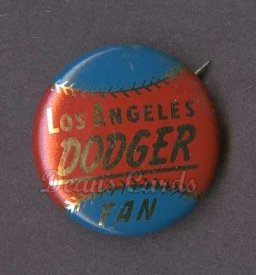 1964 Cranes Potato Chip Pin #11   Los Angeles Dodgers