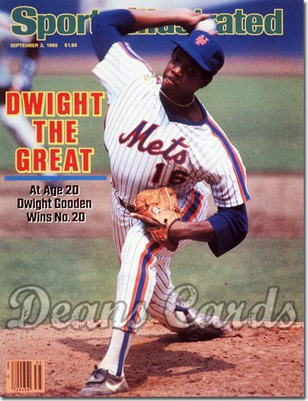 1985 Sports Illustrated - With Label   September 2  -  Dwight Gooden (New York Mets)