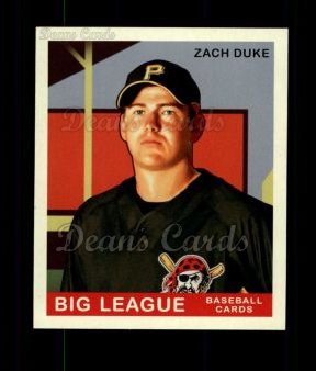 2007 Upper Deck Goudey Green Backs #100  Zach Duke