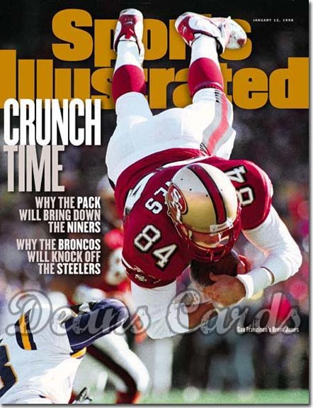 1998 Sports Illustrated - With Label   January 12  -  Brent Jones (SF 49ers)