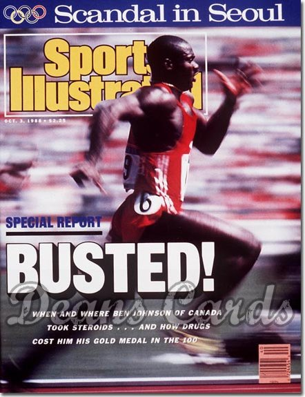 1988 Sports Illustrated - With Label   October 3  -  Ben Johnson (Olympics)