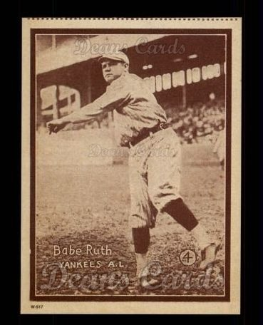 1931 W517 Reprints #4  Babe Ruth