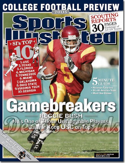 2005 Sports Illustrated   August 15  -  Reggie Bush USC College Football Preview