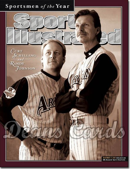 2001 Sports Illustrated - With Label   December 17  -  Curt Schilling & Randy Johnson Arizona Diamondbacks SOY