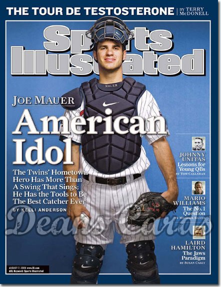 2006 Sports Illustrated   August 7  -  Joe Mauer Twins