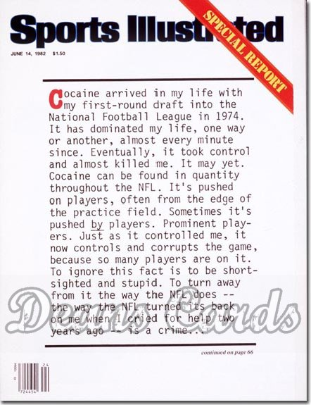 1982 Sports Illustrated - No Label   June 14  -  Cocaineinthe NFL