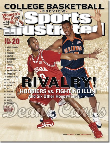 2007 Sports Illustrated   November 14  -  D. J. White Indiana Basketball