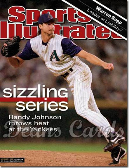 2001 Sports Illustrated   November 5  -  Randy Johnson Arizona Diamondbacks