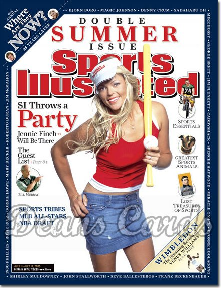 2005 Sports Illustrated   July 11  -  Jennie Finch Softball Special Double Issue
