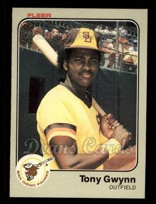1983 Fleer #360  Tony Gwynn