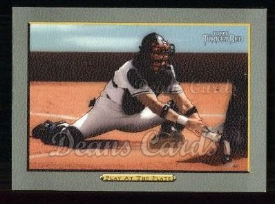 2005 Topps Turkey Red #45   -  Javy Lopez Play at the Plate