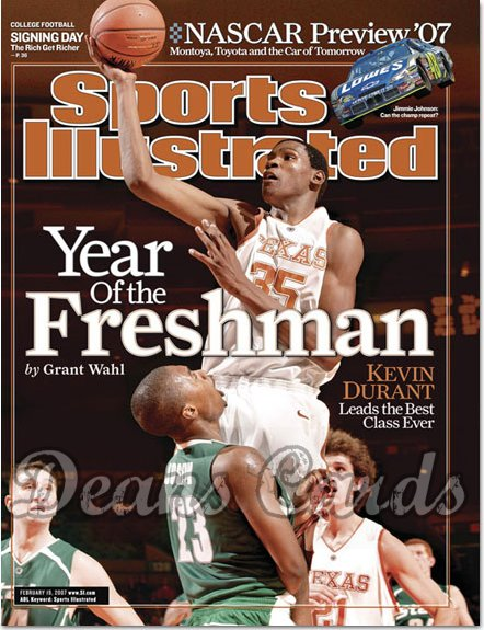 2007 Sports Illustrated   February 19  -  Kevin Durant Texas Longhorns Sports Illustra