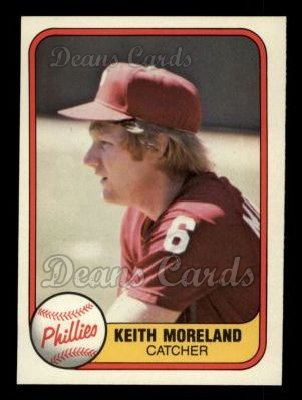 1981 Fleer #13  Keith Moreland