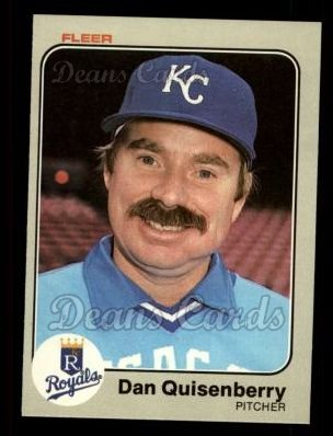 1983 Fleer #122  Dan Quisenberry