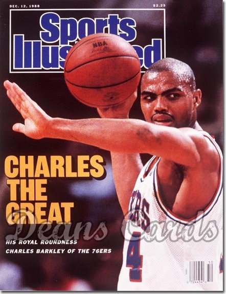 1988 Sports Illustrated - With Label   December 12  -  Charles Barkley (Philadelphia76ers)