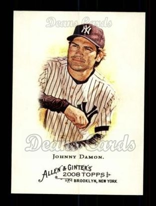 2008 Topps Allen & Ginter #58  Johnny Damon