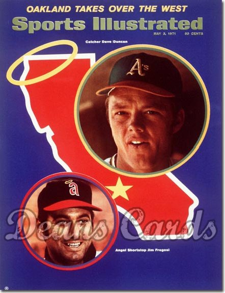 1971 Sports Illustrated - With Label   May 3  -  Jim Fergosi/Dave Duncan (California Angels/Oakland A's)